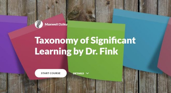 taxonomy of significant learning cover